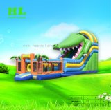 De groene Leuke Droge Dia van de Uitsmijter van de Mond van de Krokodil Opblaasbare