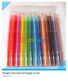 12PCS 0.7*17cm Rotatable Crayon voor Kids en Students