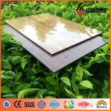 Painel composto de alumínio de superfície de madeira do poliéster elevado do lustro