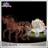 3D indicatore luminoso acrilico dell'acrilico della renna di natale LED