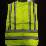 Populäre Sicherheits-Polizei bekleidet Grippe-gelbes strickendes Gewebe 100%Polyester