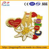 Distintivo poco costoso personalizzato del metallo di figura del fiore
