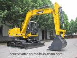Excavatrices hydrauliques de petite chenille jaune neuve de la Chine avec Grasper