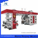 6 Machine van de Druk van Flexo van het Type van Ci van de Trommel van de Plastic Film van de kleur de Centrale (Nuoxin)