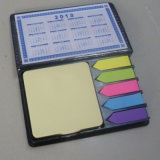 Sticky Notes avec le calendrier en PU Case, cadeau promotionnel ensembles de notes
