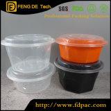 円形のプラスチック食糧貯蔵容器のMicrowavableの食糧容器の緑のプラスチック食糧貯蔵容器