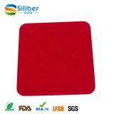 Venda por atacado resistente ao calor quadrado anti-derrapante lavável de mesa de silicone / prato / porta-copos