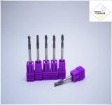 Cutoutil HRC45 TialnのコーティングD18*45*100 鋼鉄CNCの機械化の部品&#160のための2f/4f; Square 炭化物の端製造所のツール