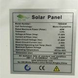 i poli comitati solari 50W con Ce e TUV hanno certificato