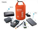 Sport imprägniert Rucksack-Beutel des trockenen Beutel-2L 5L 10L für den Kanu-Kajak, der Handy-Kamera flößt