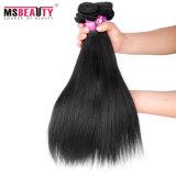 Extensions soyeuses brésiliennes de cheveu droit de cheveux humains de Vierge de prix usine