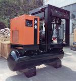 Leiser kombinierter Luftverdichter der Schrauben-7.5kw mit Becken und Trockner