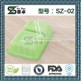 2compartment het Gebruik van het voedsel en de Doos van de Lunch van het Plastic Materiaal