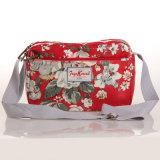 (99032-6) Madame florale Handbag de configurations de toile imperméable à l'eau de PVC