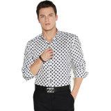Camisas de vestido formal novas do negócio do algodão do projeto com luva longa