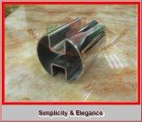 Sistema de cristal, barandilla con el tubo Grooved del doble del acero inoxidable