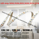 Luz impermeable de la tira LED, 5050 luces de tira del RGB LED, conector de la tira de la luz de 2835 RGBW LED