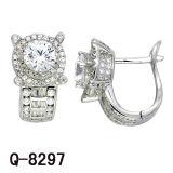 2017 nuevos estilos 925 joyería de plata CZ pendientes de diamantes.