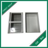 Diseño simple caja de cartón con ventana de PVC