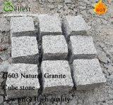 工場価格の白い花こう岩の立方体の石の庭かCountryardの床の敷石