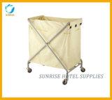 Вагонетка горничной прачечного обслуживания чистки гостиницы Linen