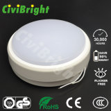 Redondo IP64 10W LED Ceilinglight Damp-Proof suaves y curvas con GS