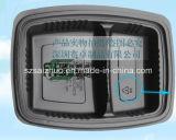 2개의 격실 처분할 수 있는 플라스틱 음식 콘테이너 (SZ-8628)