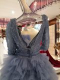 Mermaid Real Sample High Quality Blue Wedding Dress