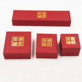 Umweltfreundlicher Plastiksamt-Schmucksache-Kasten mit goldenem Drucken (J37-E2)