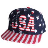 米国の星のロゴの平らな縁の帽子(JRE104)