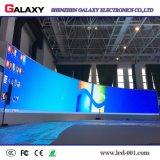 Pantalla de alquiler de interior Shaped de la curva P2.98/P3.91/P4.81/P5.95 LED para la demostración, etapa, conferencia