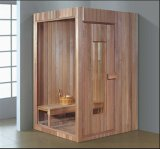 Sala de Sauna sólidos de madeira (A-8607)