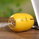 LED夜ライトが付いているレモン形USBの加湿器