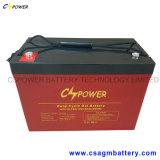 batterie solaire de gel de batterie rechargeable de gel de 12V 100ah pour l'UPS