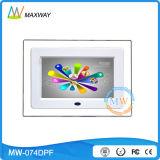 Des MP3-MP4 Zoll Acryldigital Photoframe Schleifen-Video-7 mit statischer AbleiterUSB