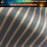 Brown raya de poliéster hilado teñido de tela para prendas de vestir de la guarnición (S010.013)