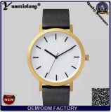 Cinta de couro de relógio de senhoras da forma dos relógios de pulso da face Yxl-317 preta a mais quente o relógio do cavalo