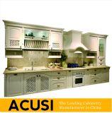 Gabinetes de cozinha lineares americanos por atacado da madeira contínua do estilo (ACS2-W23)