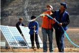 1.5kw de ZonnePomp van het roestvrij staal met Zonnepaneel, Controlemechanisme en AC Pomp