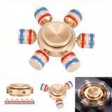 取り外し可能なジャイロスコープの指先の螺線形6の角の明るい金属手の紡績工