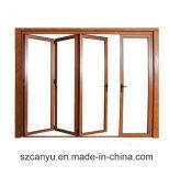 Finestra di legno di alluminio/doppio Windows lustrato di alluminio e portelli