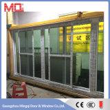 Balcón de PVC de vidrio templado puerta corredera con Mosquitera