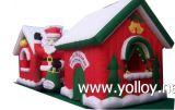 Decorativo de Navidad Inflable Hinchable Reno de Santa Sleigh