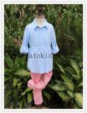 Обыкновенные толком голубые длинние юбки хлопка кофточки девушок платья лета детей втулки для девушок малышей