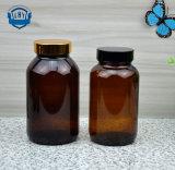 [60-500مل] كهرمانيّة زجاجيّة الطبّ زجاجات, كبسولة زجاجة