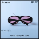 Óculos de proteção de segurança dos vidros de segurança do laser do Alexandrite e do diodo do Transmittance de 45%/laser com frame 33