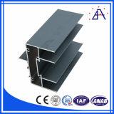 Perfil do alumínio do indicador e da eletroforese da porta