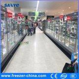 Congelador de cristal de la puerta del oscilación comercial de R404A para el alimento congelado usado en supermercado