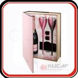 Het douane Afgedrukte Vakje Van uitstekende kwaliteit van de Gift van het Glas van de Wijn van het Document