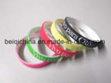 Qualität Promontional Geschenk kundenspezifisches Firmenzeichen-Silikon-Armband